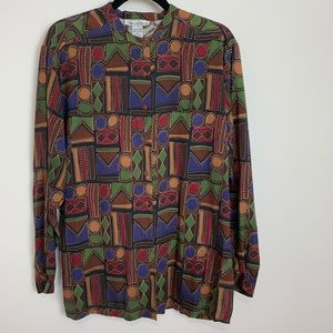 Anna and frank vintage tunic Aztec western blouse